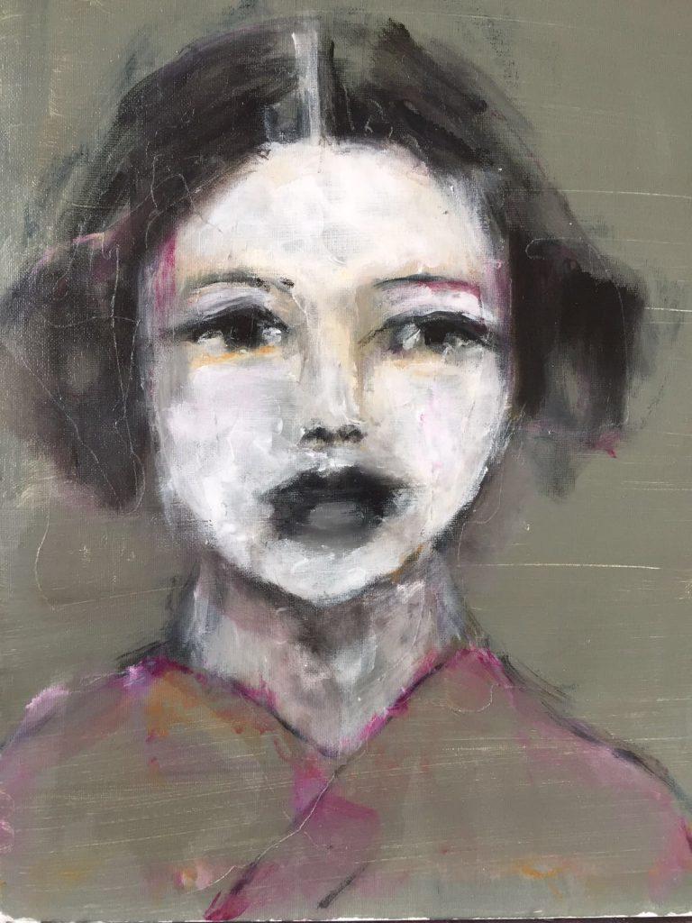 Chinese woman small 30×40