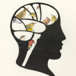 Bird Brain – limited edtion print of collage
