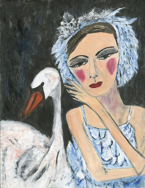 Irina's Swan – limited edition art print