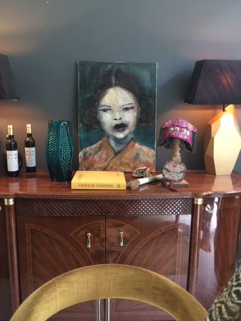 China girl orange – in situ